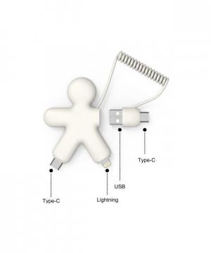 XOOPAR BUDDY ECO FRIENDLY MULTI USB CABLE WHITE